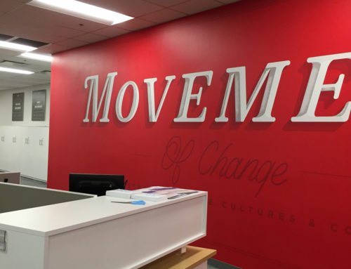 Movement Mortgage Wall graphics