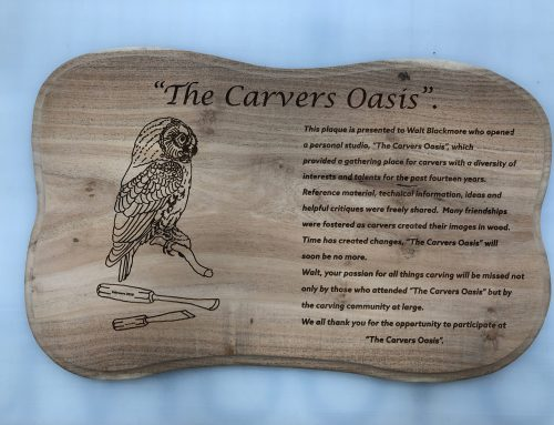 Carvers Oasis Laser Etched Wood